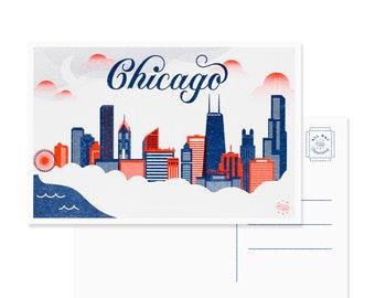 Chicago Skyline Postcard - Set of 10