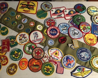 Huge Lot 50 Vintage Boy Scout Patches, boy scouts, scout patches, scout patch lot