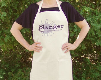 natural canvas crafting gardening apron Stamping Craft Apron Stamper's apron Vendor Apron crafting crafter's stamper's
