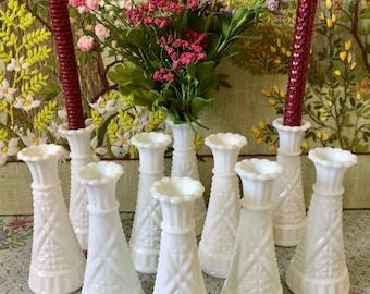 Milk Glass Vases Small Vases for Wedding Vases for Centerpiece Vases White Vases Party Centerpiece Short Vase Flower Bulk Vases Bud Vase