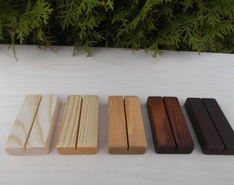 10 Wedding Place Card Holders, Holders, Place card holders, Wood place card holder, Wedding decor, Rustic