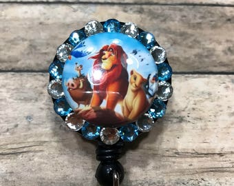 The lion king - retractable badge holder - badge reel - retractable badge reel - ID card holder - badge clip