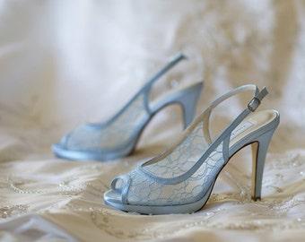Lace Wedding Shoes Lace Shoes White Lace Wedding Shoes Blue Wedding Shoes Blue Lace Wedding Shoes