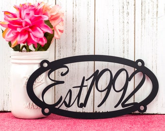 Established Metal Sign | Established Sign | Custom Metal Sign | Custom Sign | Metal Wall Art | Personalized Sign | Family