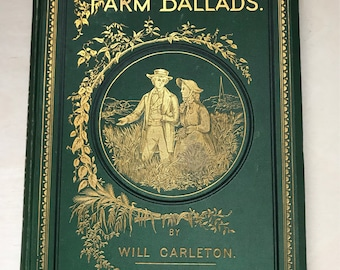 1875 Farm Ballads Book, Vintage Poetry Book, Vintage Paper, Vintage Books, Books, Junk Journal, Journal Supplies, Scrapbook Supplies, Paper