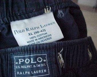 POLO Ralph Lauren Zero Shipping Men's cotton Boxers size XL vintage 1998