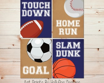 Sports nursery art Baseball wall art Toddler boy bedroom art Boy art prints Boys sports prints Navy nursery art Home run print Kid art #1475