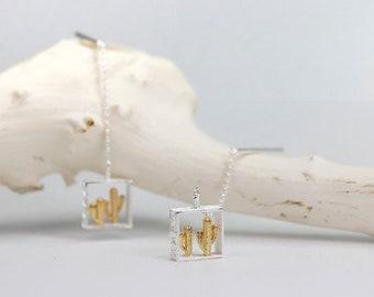 Gold Cactus Stud Earrings