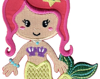 Mermaid Iron-On Patch Applique Kids / Baby