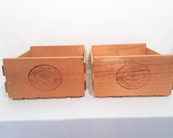 Napa Valley Wood  Crates 2 Each