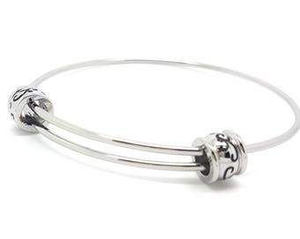 Coorabell Crafts Filigree Beaded elegant Silver bangle with Gift box