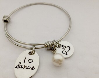 Dance Personalized Jewelry - Boutique Kid's -  Initial Jewelry for Little Girls -  Children's bracelet - Teen Jewelry - Personalized