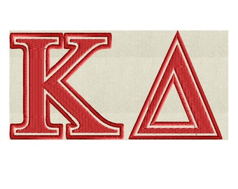 "Greek Letters ""Kappa Delta"" quote - EMBROIDERY DESIGN file - Instant download Exp Jef Vp3 Pes Dst Hus formats"