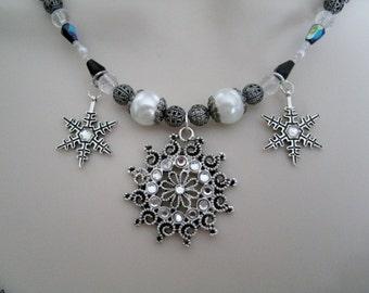 Solsticio de invierno collar, joyería Wicca pagana wicca joyería diosa bruja brujería metafísica handfasting magia Wicca collar de la joyería