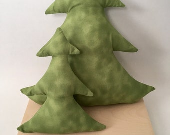Pine Tree Shaped Pillows, Tree Plush