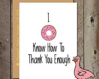 I donut know - Thank You Card