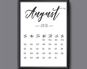 5 x 7 calendar | Etsy