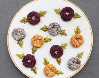 Embroidery Art - Embroidery Hoop Art - Hand Embroidery - Modern Embroidery - Embroidered Home Decor - Nursery Decor - Floral Embroidery