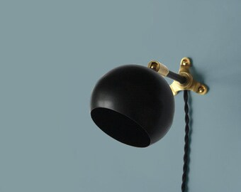 Modern Wall Lamp • Marylou • Black Plug in  Wall Sconce • Mid century modern • Minimalist • Scandinavian • Plug in wall sconce