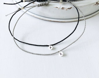 Personalized Bracelets for Women, Dainty Bracelet, Couples Bracelet, Custom Initial Bracelet, Sterling Silver, Personalized Couples Bracelet
