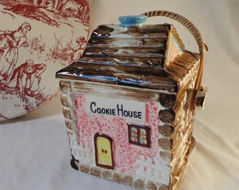Log Cabin COOKIE HOUSE Cookie Jar ~ Made in Japan
