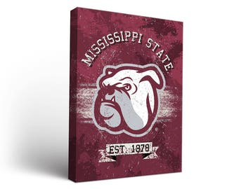 Mississippi State University Bulldogs Canvas Wall Art Designs