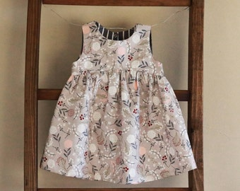 Floral Baby Dress - Floral Toddler Dress - Baby Easter Outfit - Baby spring Outfit - Girls Easter Outfit - Girls Spring - newborn dress