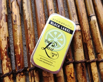 The Last Word lip balm tin - gin, chartreuse, black cherry and lime cocktail-flavored lip balm - craft gin lip balm with cherry oil