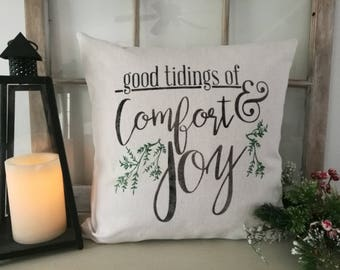 Good Tidings of Comfort Pillow Cover