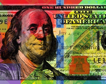 Benjamin Franklin Pop Art Andy Warhol style - New bill