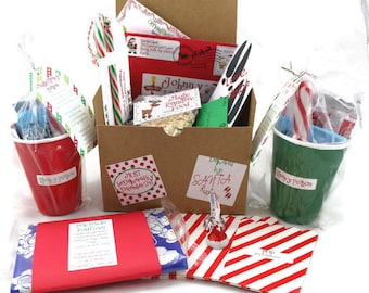 Personalized package from santa letter from santa santas santa gift personalized christmas eve box popcorn hot chocolate family gift box santa letter elf letter nice list santa fun spiritdancerdesigns Image collections