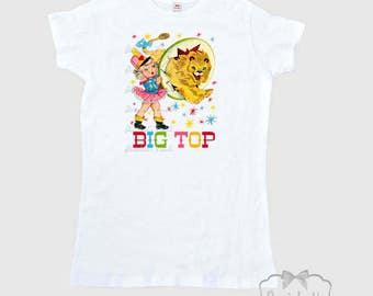 Circus Women's Shirt - Lion Tamer Shirt -  Circus Party Shirt - Ladies Circus Retro - Big Top Shirt Women's T Shirt Adult Size S M L Xl 2Xl