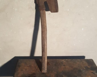 Old wooden metal ax handmade rustic house decor gift cheap