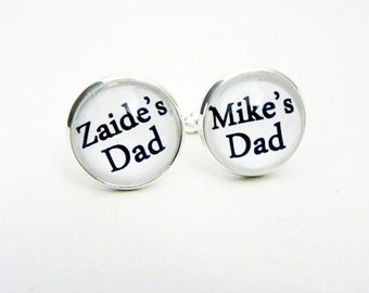 Cufflinks for Husband with Kids Names, Personalized Cuff Links, Father's Day Gift from Wife, Custom Cufflinks for Dad Daughter Gift Idea,