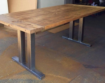 Elm Dining Table Etsy - Recycled wood table top