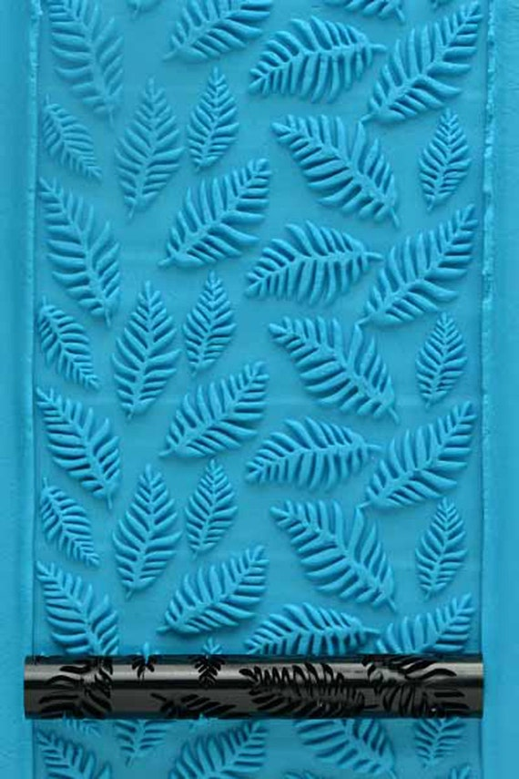Kor Tools -021 Tropical Leaves texture roller for polymer clay you keep the design rolling