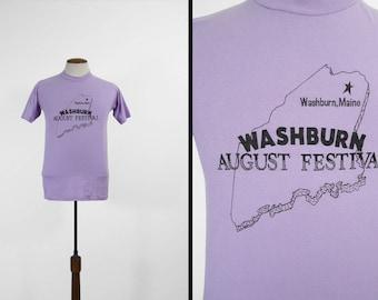Washburn Vintage Maine T-shirt août Festival Purple Tee - Medium