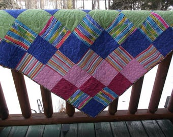 Flannel backed baby quilt