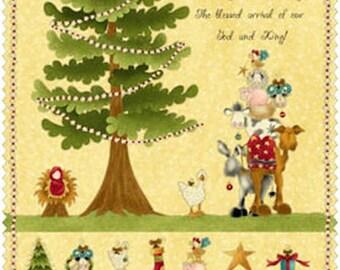 Panneau Tissu coton thème NOEL /  Sapin à décorer avec appliqués