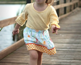 Seahorses and Fishes  skirt  (18 mos, 2T, 3T, 4T, 5, 6, 7, 8, 10)