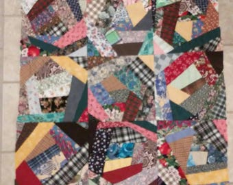"""CRAZY QUILT TOP-36""""- Top Only- You Finish"""