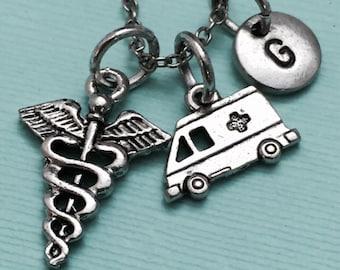 EMS necklace, EMScharm, theme necklace, personalized necklace, initial necklace, initial charm, monogram