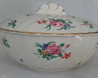 Clarice Cliff Olde Bristol Porcelain Tureen Designed by Duvivier for Newport Pottery circa 1940s