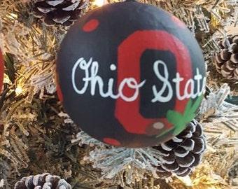 Ohio State Buckeye Christmas Ornament Ohio State Football