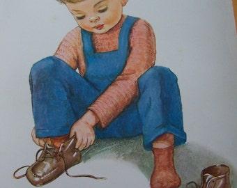 little boy lithograph poster