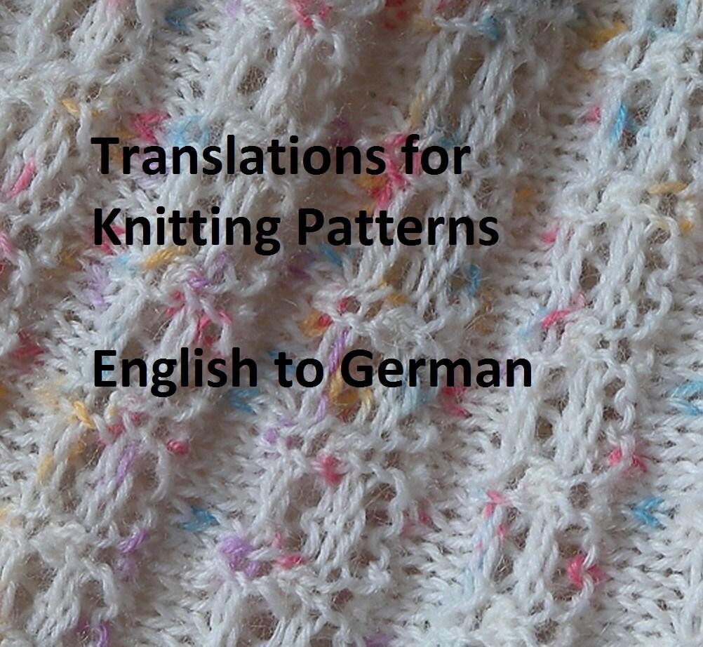 Stricken Muster Übersetzungen Englisch Deutsch Imperial