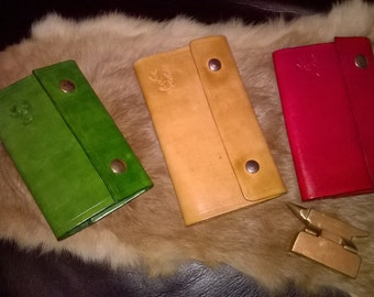 Small Hand made 100% leather note book cover.
