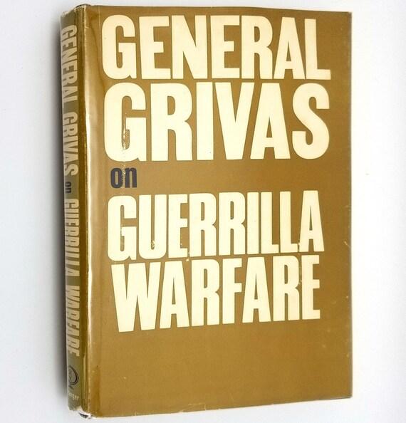General Grivas on Guerrilla Warfare 1965 1st US Ed Hardcover HC w/ Dust Jacket DJ Greece Cyprus Enosis