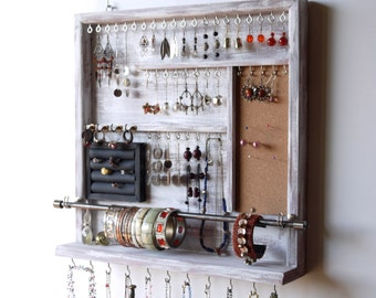 Jewelry organizer earrings display earring holder necklace