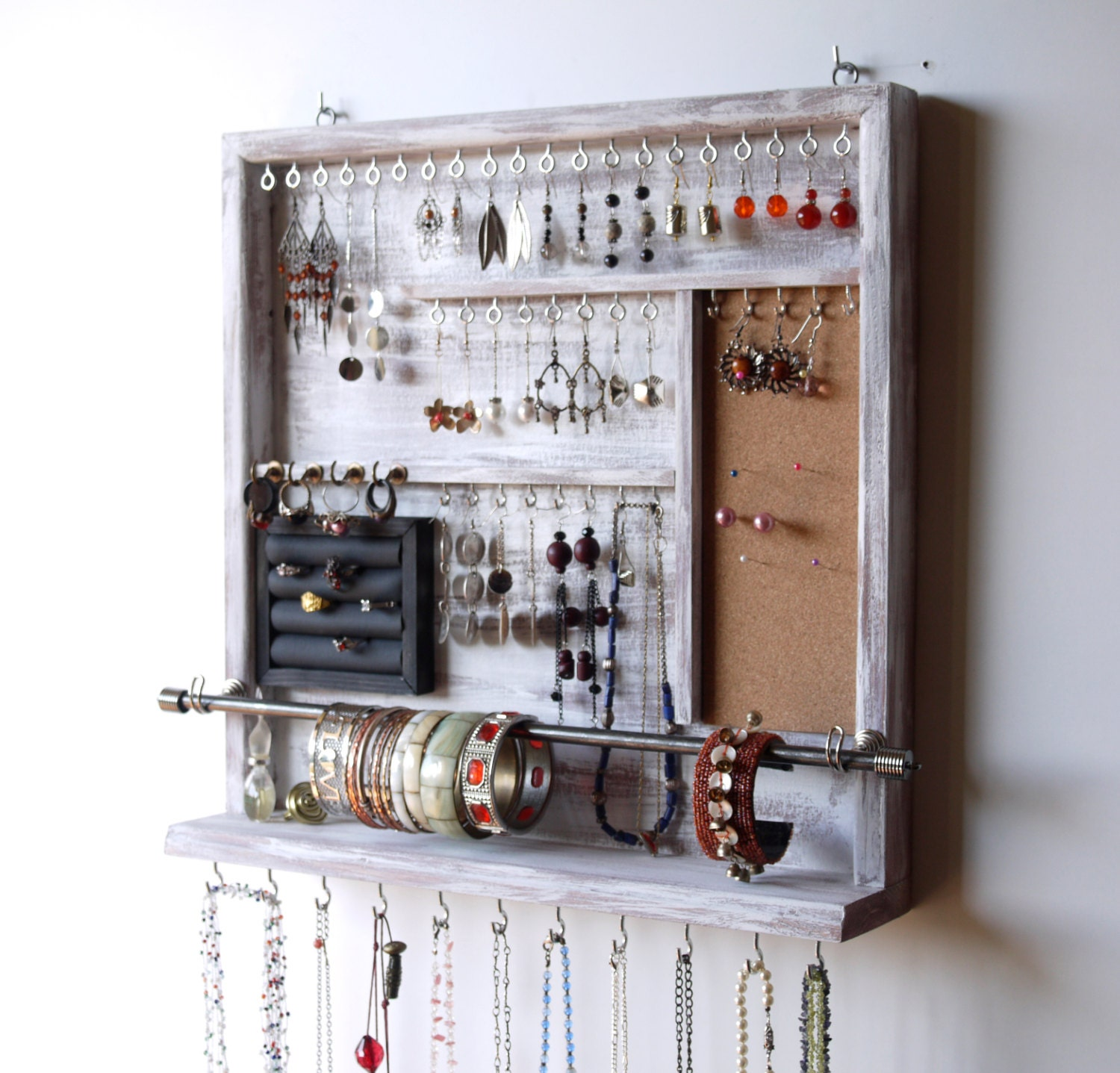 Jewelry organizer earrings holder jewelery rack necklace